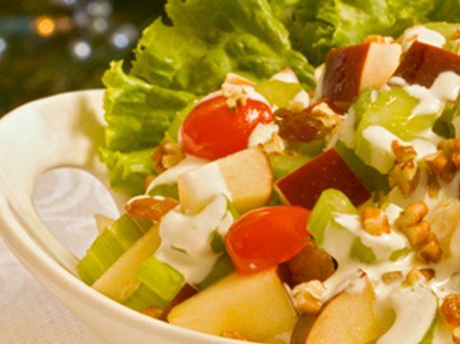 Salada de pinhão para o Inverno