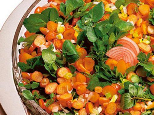 Salada de agrião e pinhão